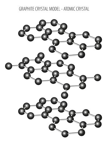 Graphite crystal model - atomic crystal structure Stock fotó - 132567738