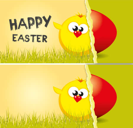 Graphic design for Easter greeting card.
