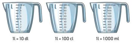 Illustration of empty measuring kitchen cup 版權商用圖片 - 155811571