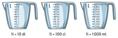 Illustration of empty measuring kitchen cup