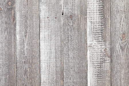 Vintage grey painted rustic old wooden horizontal planks wall textured background. Faded natural wood board panel structure Banque d'images