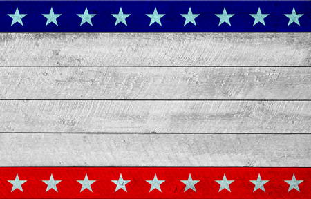 USA Patriotic wooden background