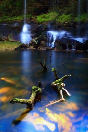 phukradueng: Phukradueng National Park of Thailand.Waterfalls, caves,