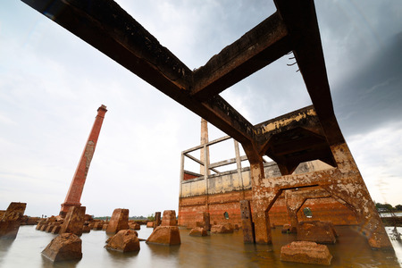rice mill: Rice mill was flooded after the dam. Old Mill ,Old factory
