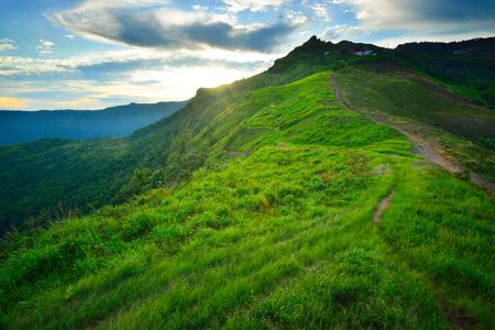 phu: Morning mist in mountain Phu Tubberk
