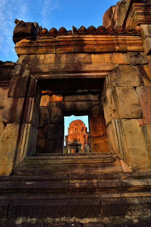 prasat: Prasat Muang Tam castle rocks in the North east of Thailand.