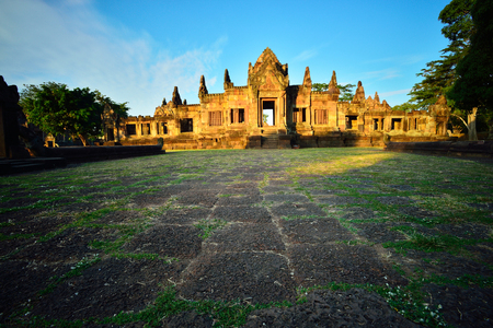 Prasat Muang Tam castle rocks in the North east of Thailand.