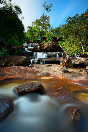Huaipok waterfall in Ubon Ratchathani province Thailand
