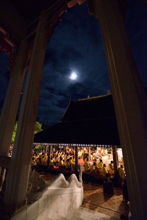 religious event: The sermons is an important religious event,Thailand. Stock Photo