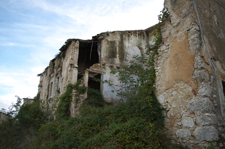 abandonment: Collapsed houses