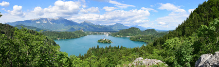 bled: Lake Bled in Slovenia Stock Photo