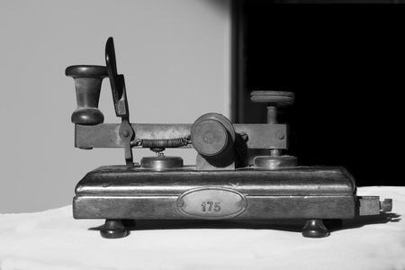 古い電信 写真素材