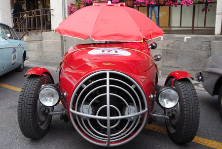 Annual mileage retro cars 1000 MIGLIA Brescia-Rome-Brescia Italy May 17, 2016.