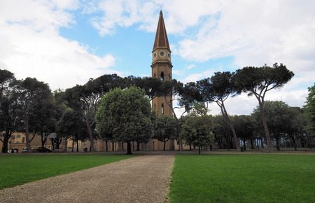 Park and bell tower from Arezzo