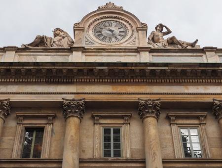 Santa Maria announced facade and big clock, Milan, Lombardy, Italy. 報道画像