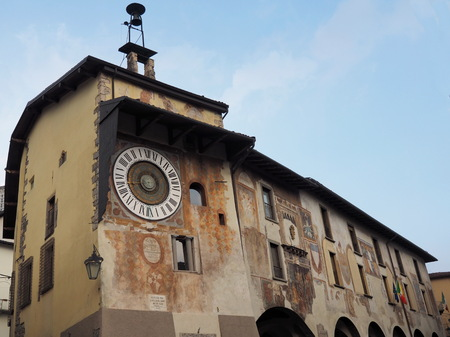 Clusone - Planetary clock. Built in 1583 by Pietro Fanzago on the medieval tower
