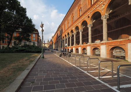 The exterior of the University of Milan Imagens