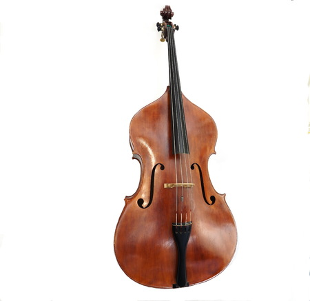 Double bass made in Italy 免版税图像