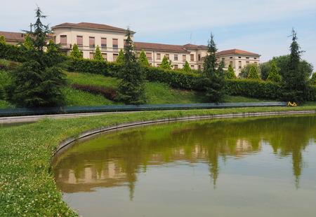 Portello lake, Milan Lombardy, italy