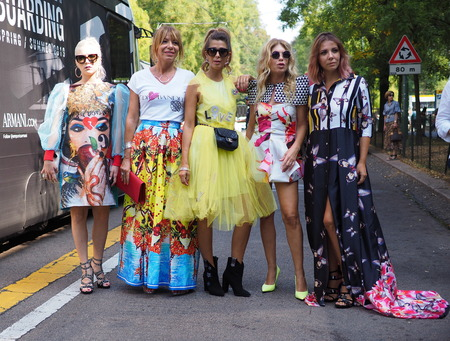 MILAN, Italy- SEPTEMBER 20: FENDI fashion show, during Milan Fashion Week spring / summer 2019 on September 20, 2018. Editorial