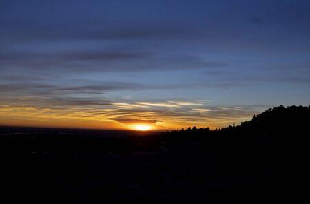Sunset from Venetians walls, Bergamo, Italy