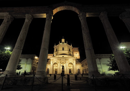 Basilica in San Lorenzo Maggiore Milan, Lombardy, Italy