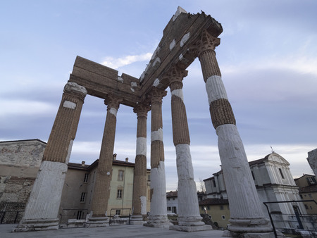 Capitolino temple, Brescia, Lombardy, Italy. Imagens