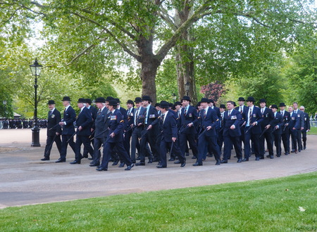 London, England, UK- May 12, 2019: 94th annual parade of the Combined Cavalry Old Comrades Association in Hyde park London