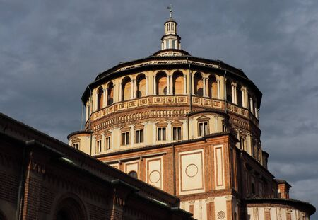Church of Santa Maria delle Grazie, in the city center of Milan.Located in the Lombardy region, northern Italy