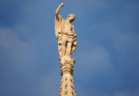 Statue on Milan, Dome, Lombardy, Italy