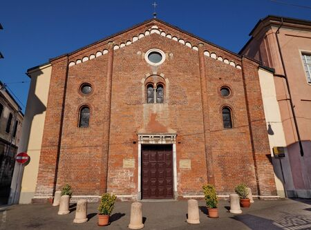 San Bernardo church, Vercelli Piedmont. Stock Photo