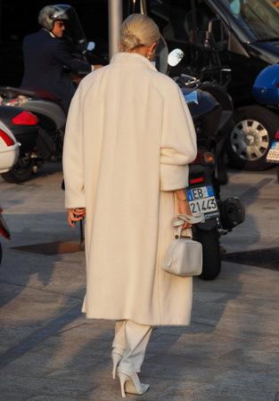 MILAN, Italy: 18 Septermber 2019: Caroline Daur street style outfit before Alberta Ferretti fashion show during Milan fashion week Fall  winter 20192020