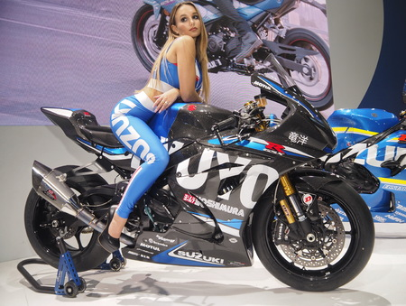 MILAN, ITALY - NOVEMBER 8: Motorbike exposed at EICMA, international motorcycle exhibition on NOVEMBER 8, 2018 Milan, Lombardy
