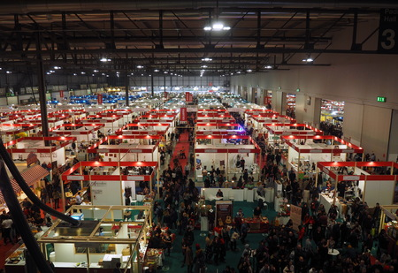 Rho, Milan, Italy: 8 December 2019: Artisans fairs trade show in Milan, stock images, Lombardy December 2019.