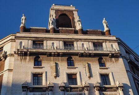 Milan, Italy - December 23, 2019: View of Agenzia delle Entrate building in Via della Moscova, Milan, Lombardy.