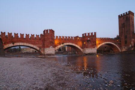 Castelvecchio Bridge, Verona Old Town - Verona is a magical city, a city of romance and history. Verona, Italy