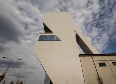 MILAN, Italy- AUGUST 17, 2019: Prada foundation tower, new building inaugurated on 19 April 2018. Milan, Lombardy, Italy. Redakční