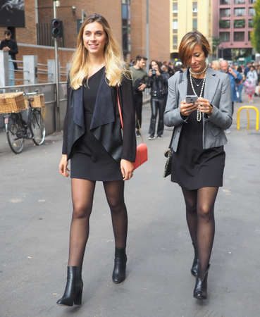 MILAN, Italy: 22 Septermber 2019: Fashion blogger street style outfit before Laura Biagiotti fashion show during Milan fashion week Spring / Summer 2019