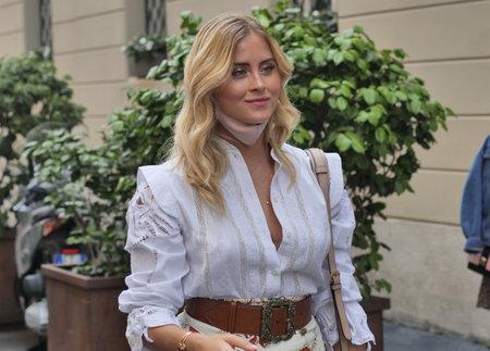 Milan, Italy: 15 July 2020: Blogger Valentina Ferragni posing for fans in
