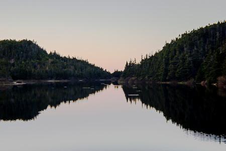 Skyline over lake Newfoundland Stock Photo - 81962406