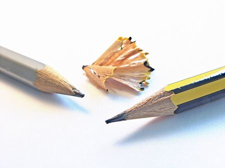 sharpened: two sharpened pencils Stock Photo
