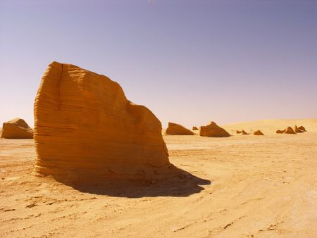 Sand formations in Tunisia, Sahara Desert. photo