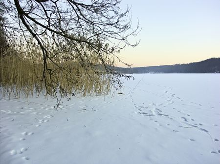 Winter in north east Poland. photo