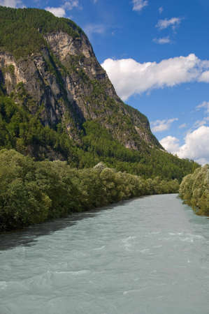 Drava river landscape Stock Photo