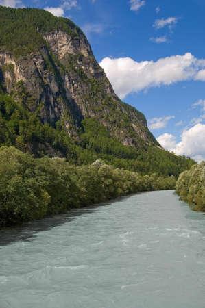 drava: Drava river landscape Stock Photo