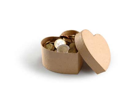 Heart money box Stock Photo