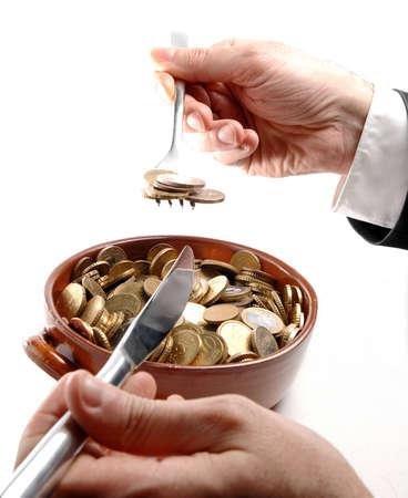 breackfast: Breackfast with coins