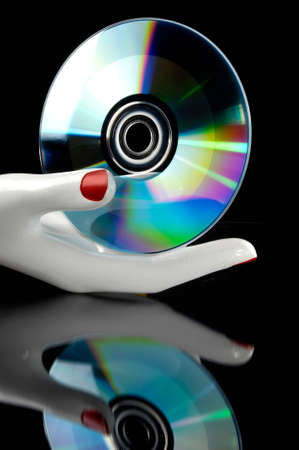 Cd music in the hand