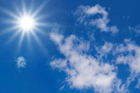 sunlight in a blue sky for Clean Energy