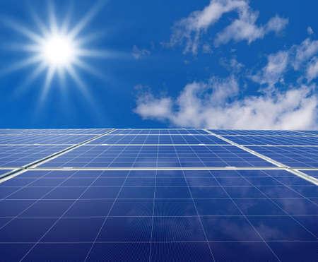 solar panel: Solar panel. Green energy from sun.